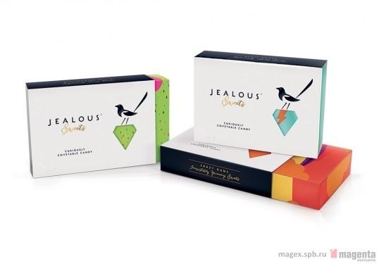 Концепция упаковки сладостей «Jealous Sweets»