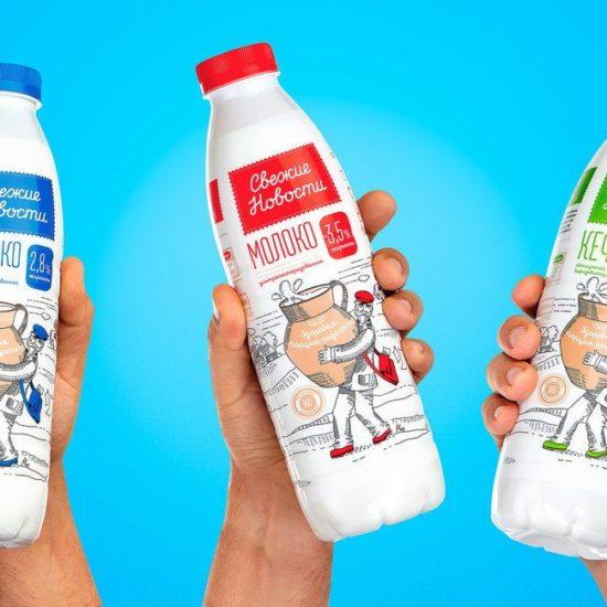 Брендинг молока: тренды упаковки и дизайна 2019