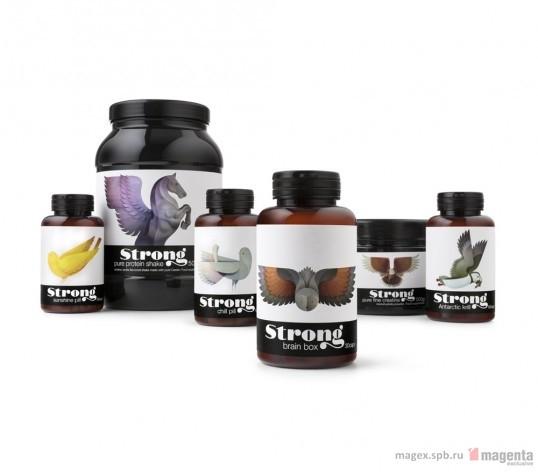 Красота и сила дизайна упаковки бренда «Strong»