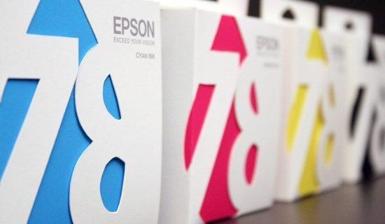 Упаковка чернильных картриджей CMYK Epson