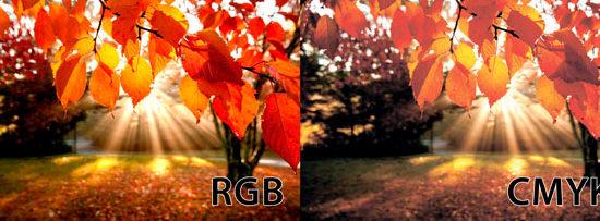 Различия цветовых палитр CMYK и RGB
